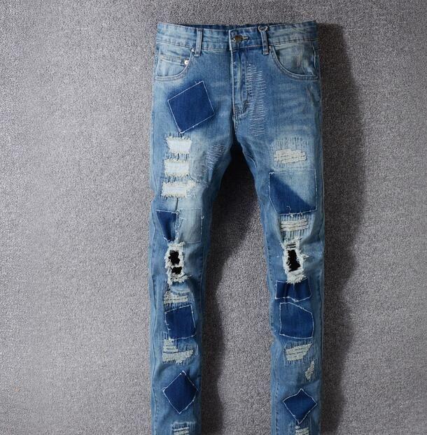 Jeans Jeans strappati strappati, jeans aderenti, jeans aderenti, jeans blu scuro, jeans aderenti