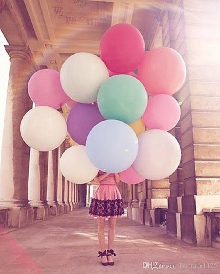 Mutlu yıllar ayıklayan kutlama dekorasyon 36 inç süper büyük büyük lateks balon lateks balon festivali parti balon