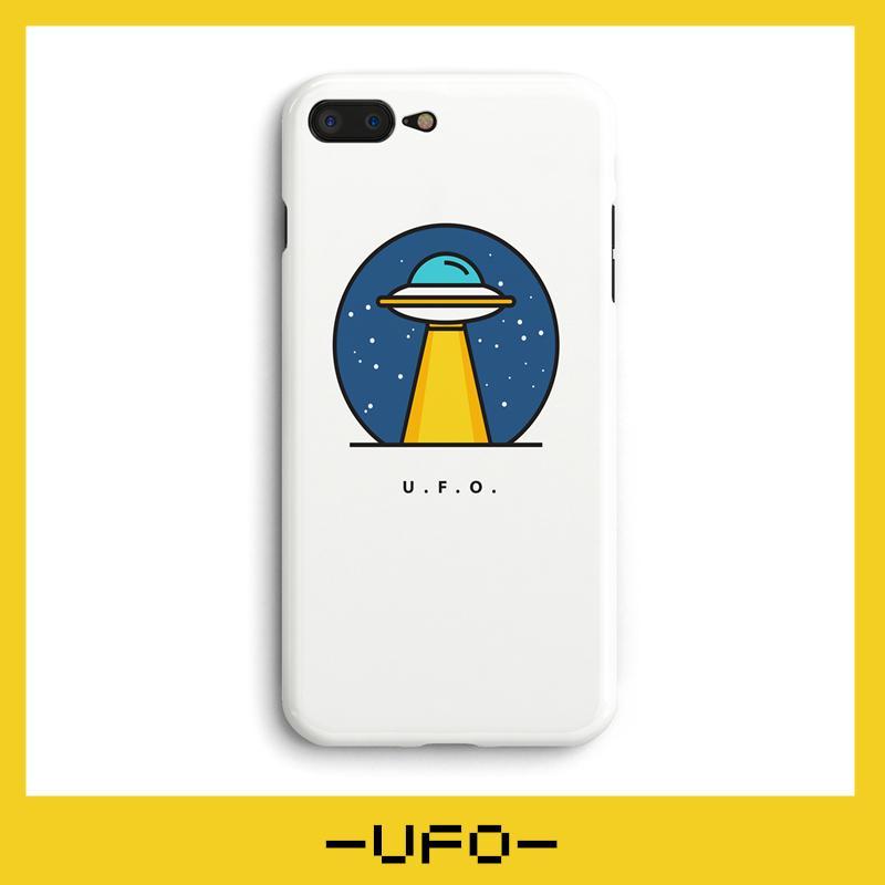 UFO iPhone 8 Case Liquid Glitter Phone