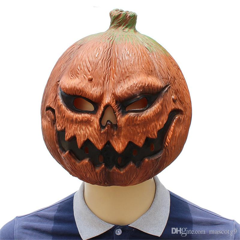 Cabeza de calabaza Máscaras de látex Película Cosplay Adulto Animal Máscara del partido gatito Masquerade realista Prop Fancy Dress Party Halloween máscara