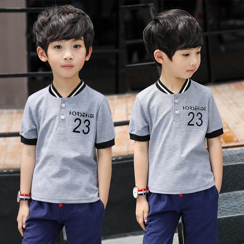 3-13T Big Kid V-neck Short T-shirt Summer Top Boys Summer 2020 Boys Shirt Short Sleeve Tops Tee Baseball Kids Clothes