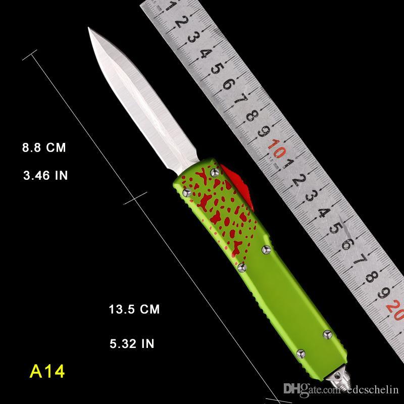 Faca automática CNC processo tático faca T6061 Aviação Facas de Sobrevivência de Alumínio Duplo Único auto facas de acampamento ao ar livre bolso dobrável