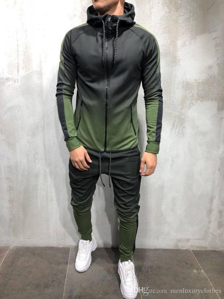 Erkek Moda Bahar Hiphop Eşofman Tasarımcı Hırka Hoodies Pantolon 2 adet Giyim Setleri Pantalones Kıyafetler Tasarımcı Erkek Giyim