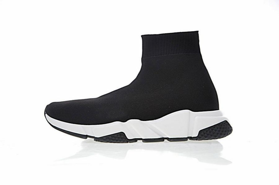 Neue Designer Speed Trainer Mode Männer Frauen Socken Stiefel schwarz weiß blau rot rosa Flache Herren Trainer Turnschuhe Runner Freizeitschuhe