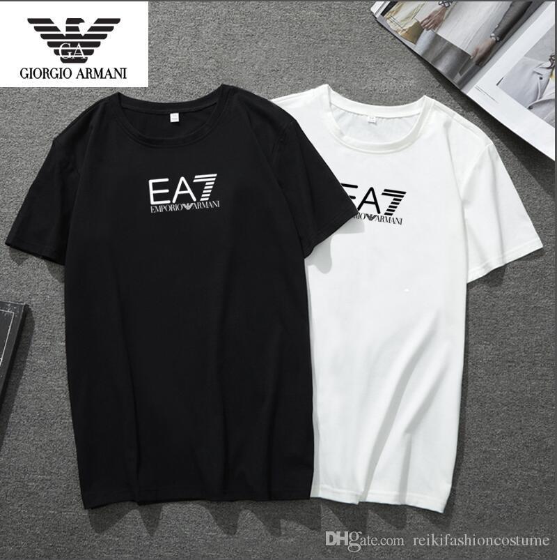 Nueva camiseta de moda para hombre 2018 con estampado de la marca y diseñador de moda Top Tees Camiseta de manga corta Camiseta casual S-5XL Nuevas llegadas