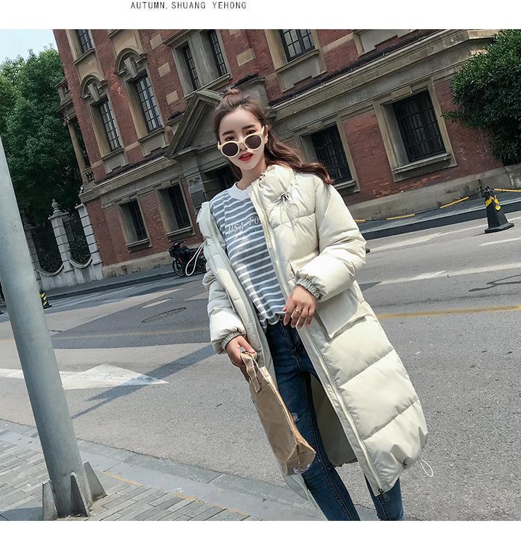 Fashion women 2019 New Arrival Solid Slim Long New Size For Women's Cotton Slim Down Parka With Hooded Winter Jack 001