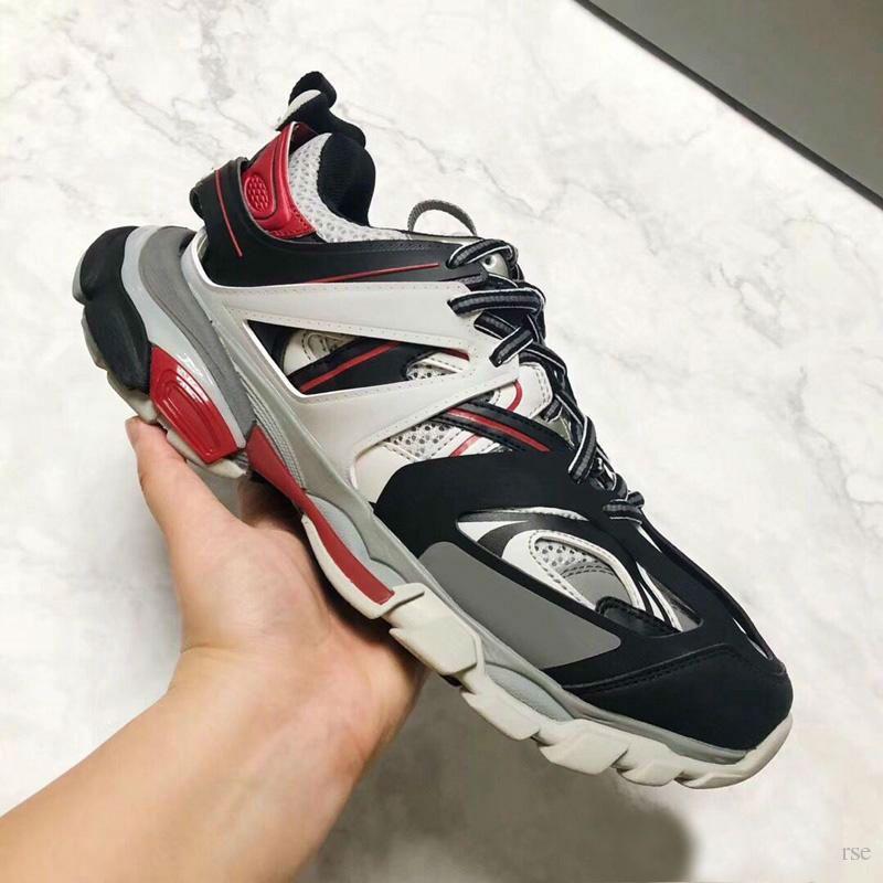 Klasik Tasarımcı Üçlü S 3.0 Sneakers adam Rahat Ayakkabılar kadın Platformu açık Sneakers Tess S. Gomma Trek örgü naylon Erkek Parça Eğitmenler