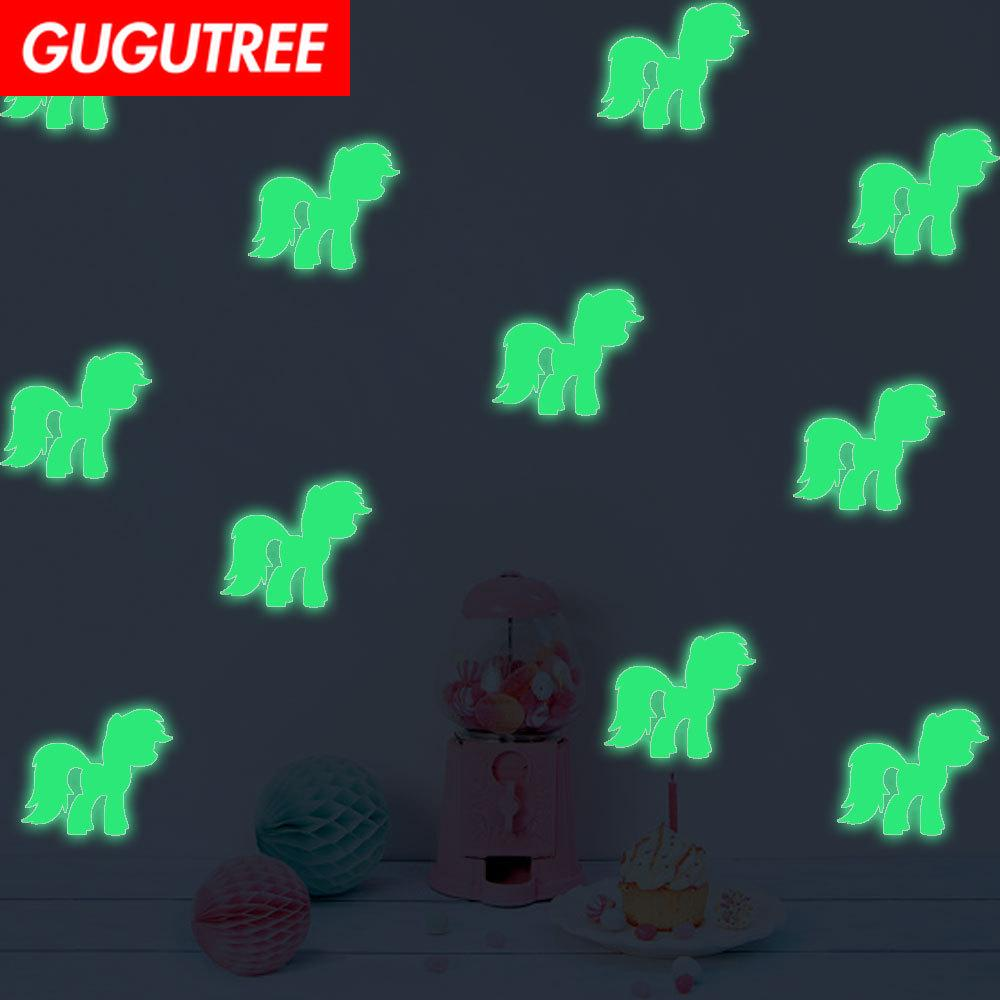 Decorate Home Diy horse cartoon art glow wall sticker decoration Decals mural painting Removable Decor Wallpaper G-587