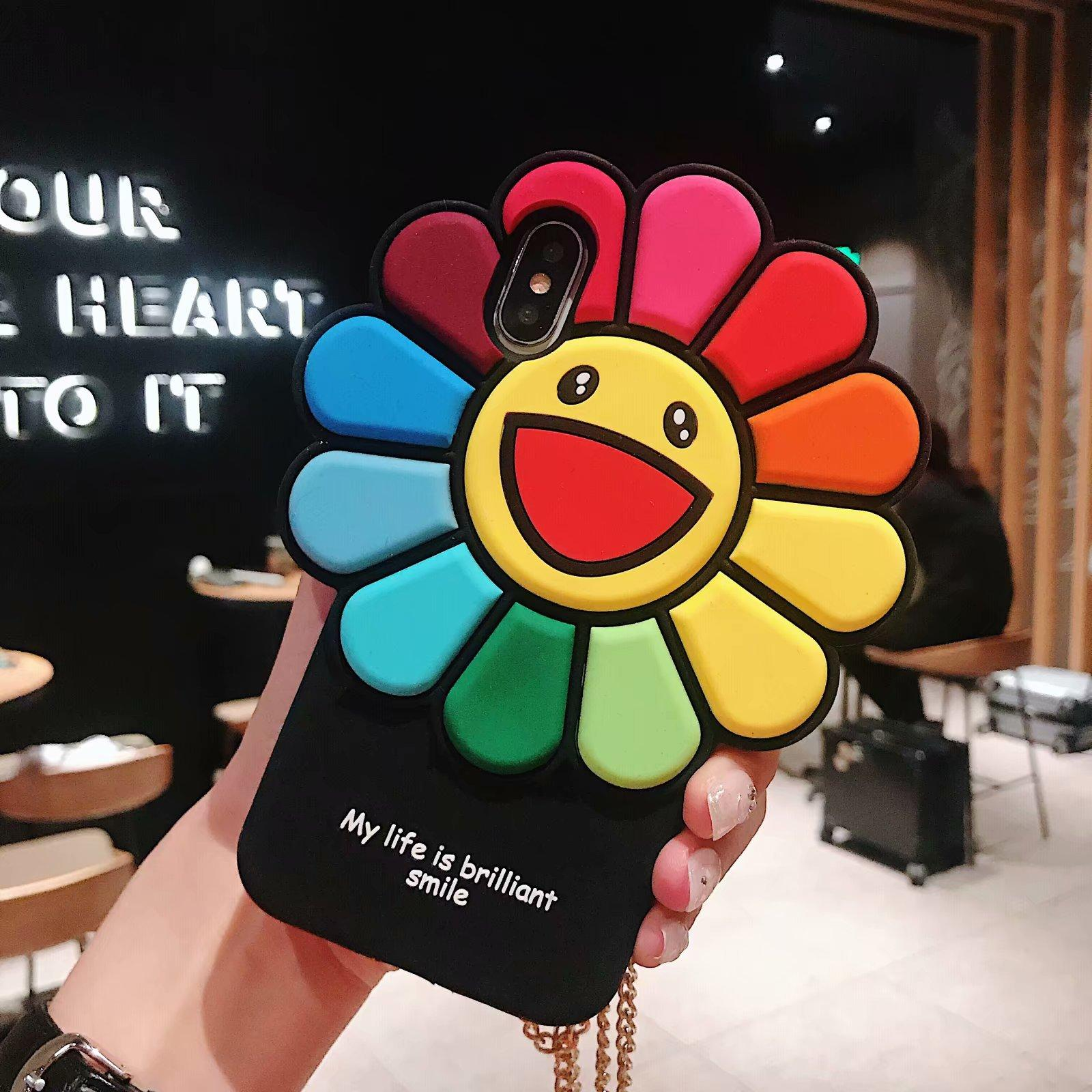 2020 Applicable iphoneXsMax Sunflower mobile phone case Apple 7PLUS All-inclusive silicone drop protection case 6S soft shell wholesale