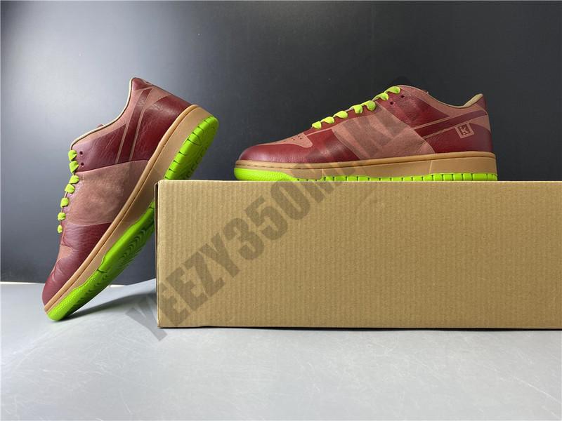 2020 низкая 1 шт Лазерная SB Dunk Вино красный зеленый обувь Мужчины Женщины моды Комфортная Открытый Человек Женщины Тренер тапки 311611-661