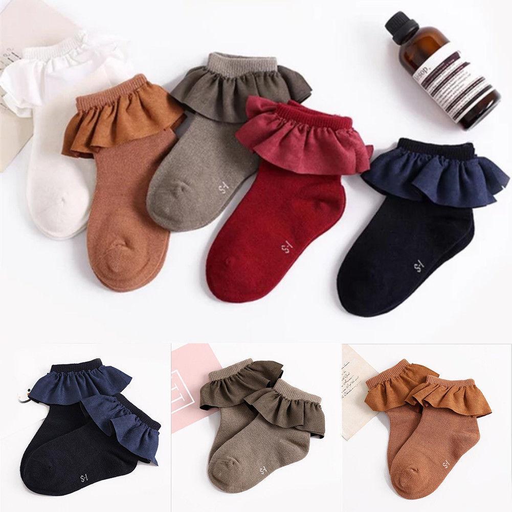 CANIS Hot Infant Kids Baby Girl Socks Newborn Baby Girls Sock Bebe Ankle 100% Cotton Flower Socks 2-8Y Cute Children
