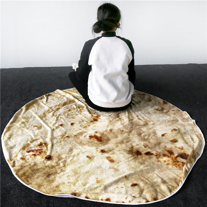 BeddingOutlet Corn Tortilla Couverture Pita Lavash Throw Blanket Flanelle Toison Sofa Plaid nourriture drôle en peluche Bedspread manta Burrito