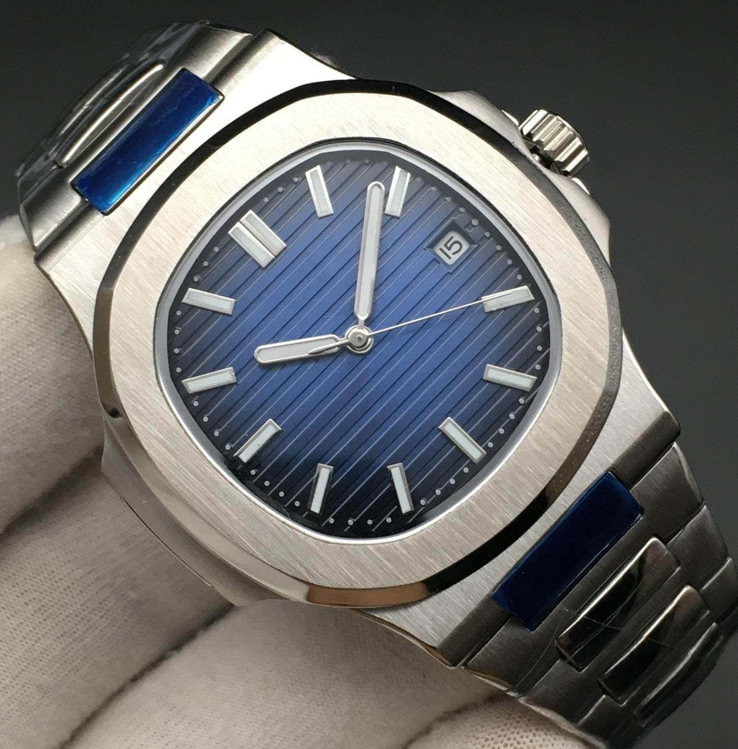 mens relojes deportivos a prueba de agua reloj de lujo mecánico de los relojes mecánicos automáticos banda de plata super brillante de los hombres de acero inoxidable