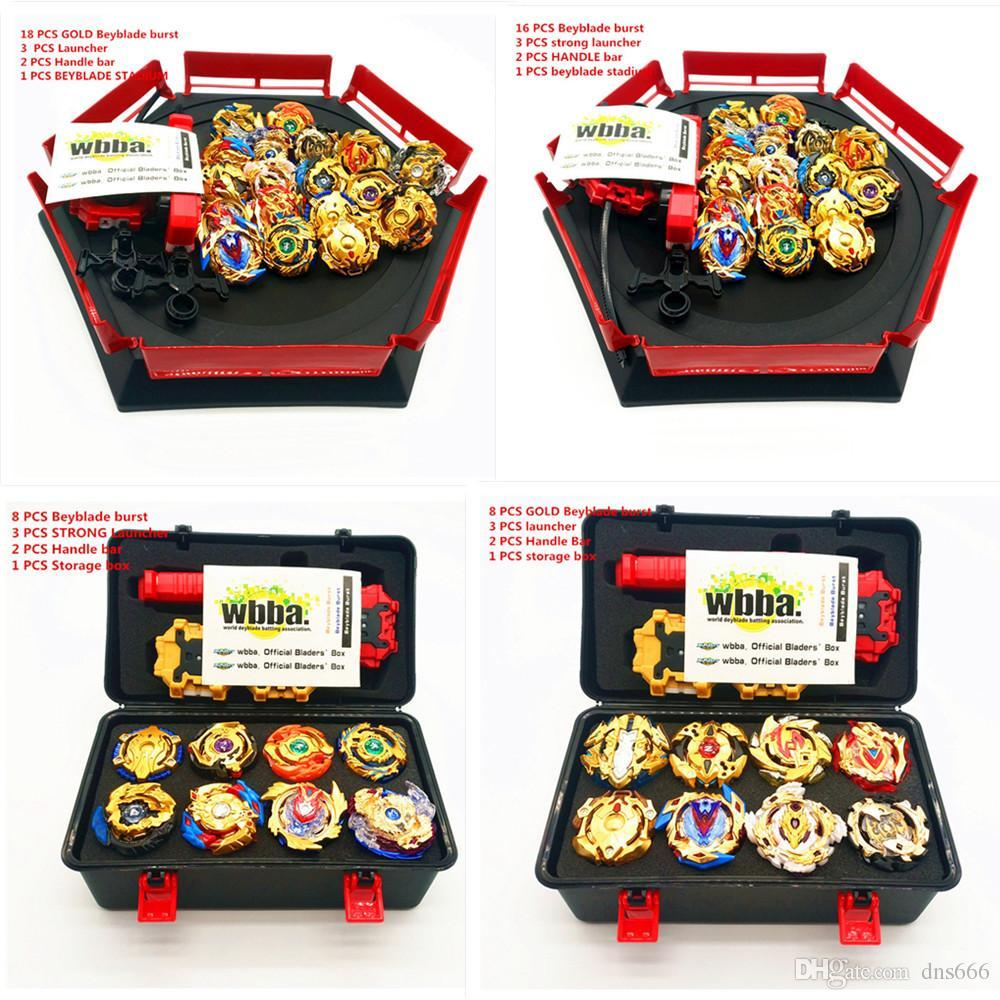 Children Toys Top Metal bcyblade burst set B104 B105 B96 B110 B86 B113 B115 B74 B903 B127 B128 With launcher and handle bar storage box