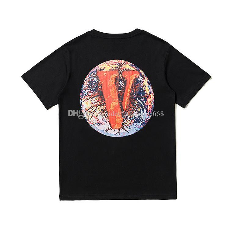 2020 새로운 디자이너 셔츠 반소매 T 셔츠 에디슨 첸 중국 긴 큰 V는 남성과 여성을위한 글로벌 힙합 상자 로고 브랜드를 제한