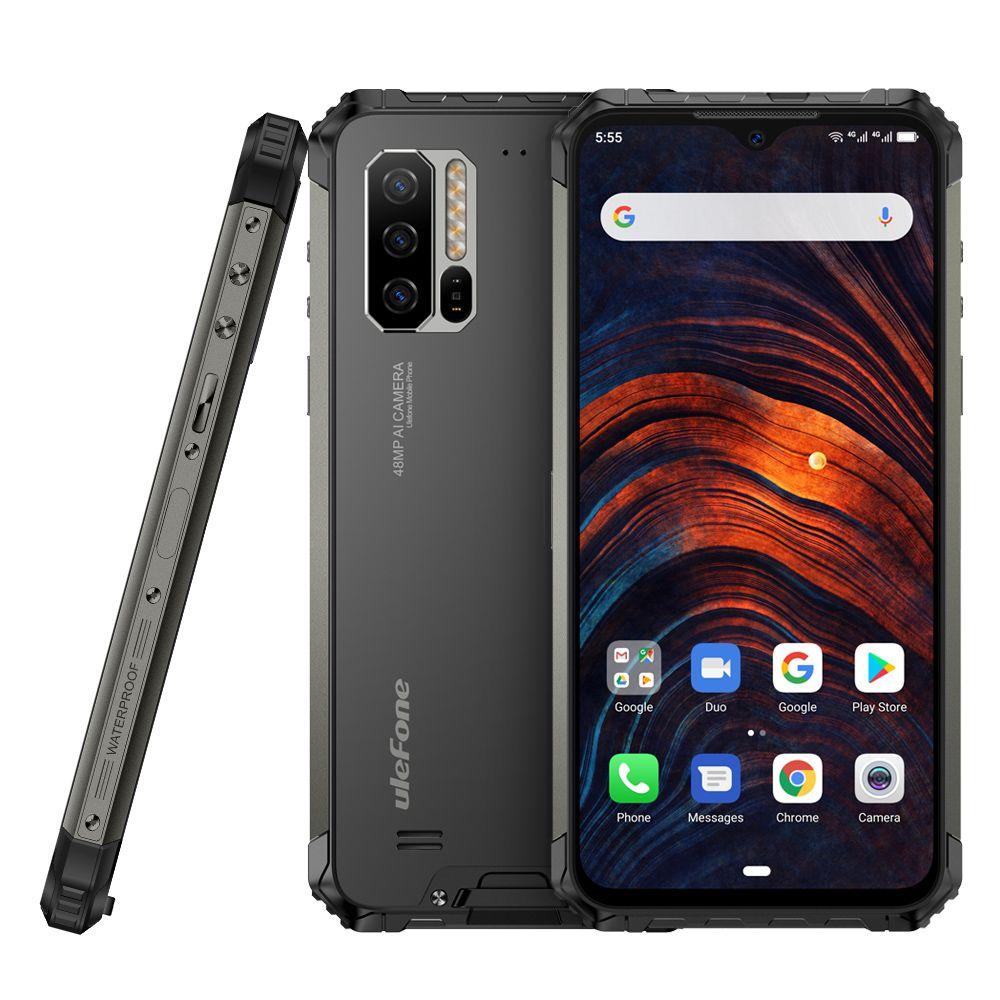 Telefono Ulefone Armatura 7 6.3Inch IP68 Robusto Helio P90 Octa centro 8GB di RAM 128GBROM Android 9.0 48MP 4G globale versione 5V / 3A NFC mobile
