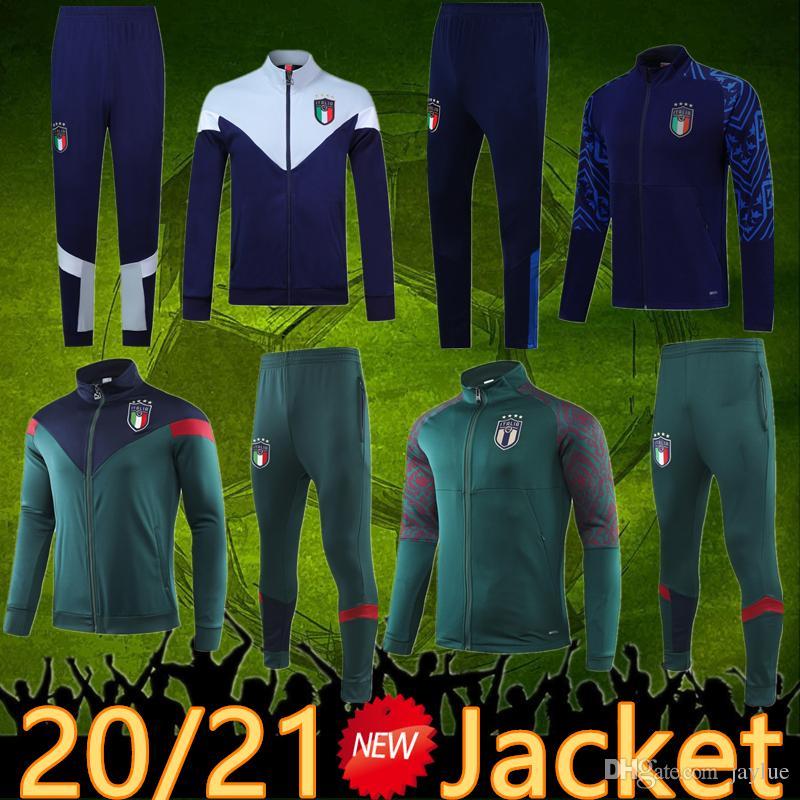 2020 Italia Chaqueta Traje Traje Traje 2021 Ropa deportiva Futbol Camisa Totti Pirlo Insigne del Piero Soccer Jersey Italia Fútbol Camiseta