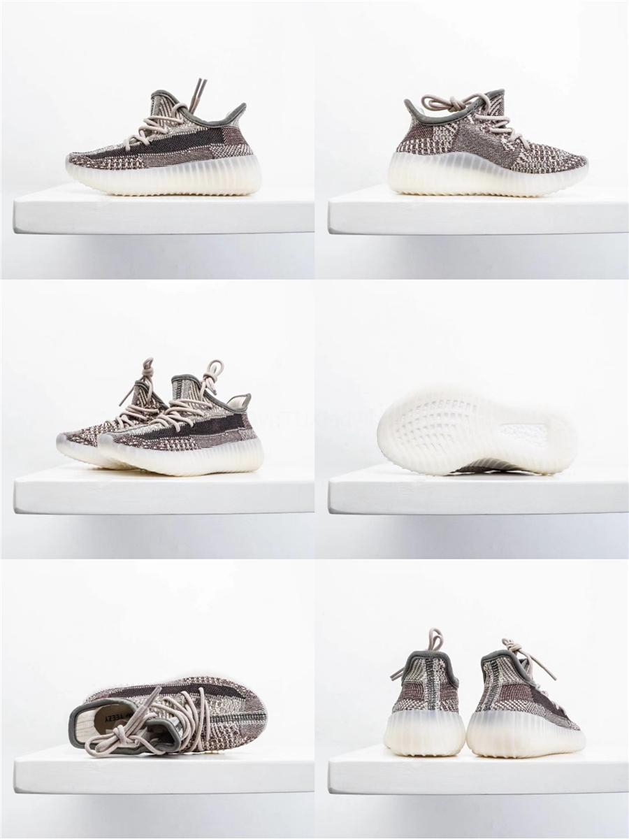 Los nuevos zapatos de bebé para niños brillan en la oscuridad de los zapatos corrientes estáticas Deporte Kanye West zapatillas de deporte de la arcilla Diseñador entrenador de atletismo con la caja # 501