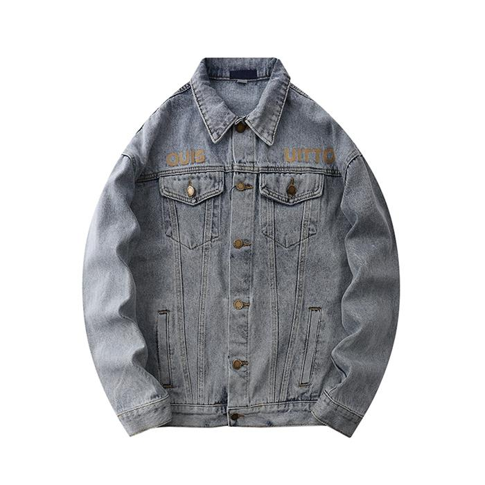 Роскошные мужские дизайнерские джинсовые куртки мужчины женщины высокое качество повседневные пальто черный синий модный бренд мужская дизайнерская куртка бомбер куртка