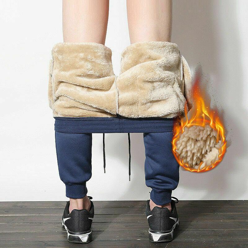 Мужские брюки свободно теплые мужские спортивные плены толстые брюки толстые брюки пробежки зимний всплеск мужской улицы