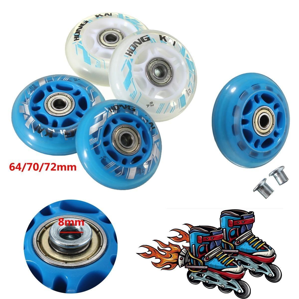 1Pcs 82A Sliding Inline Skates Wheels 64/70/72Mm Roller Blade Replacement Skating Wheels With Bearing Dia 8Mm oqWqw