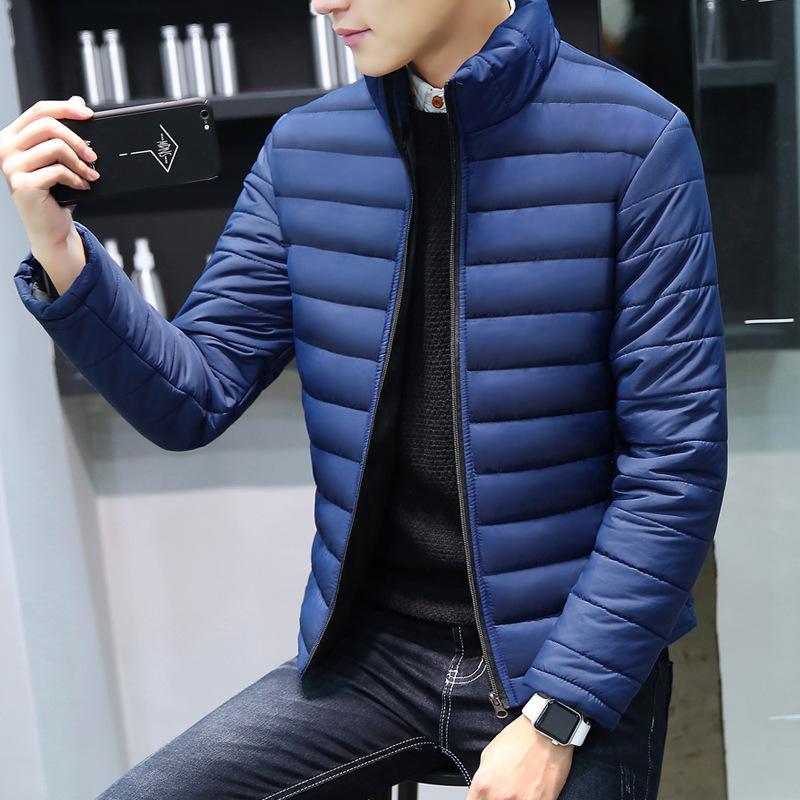 Erkek Ceket Casual Standı Yaka Dış Giyim Giyim ve Konfeksiyon için MRMT 2019 Yepyeni Kış Erkek ceketler Pamuk dolgulu Palto