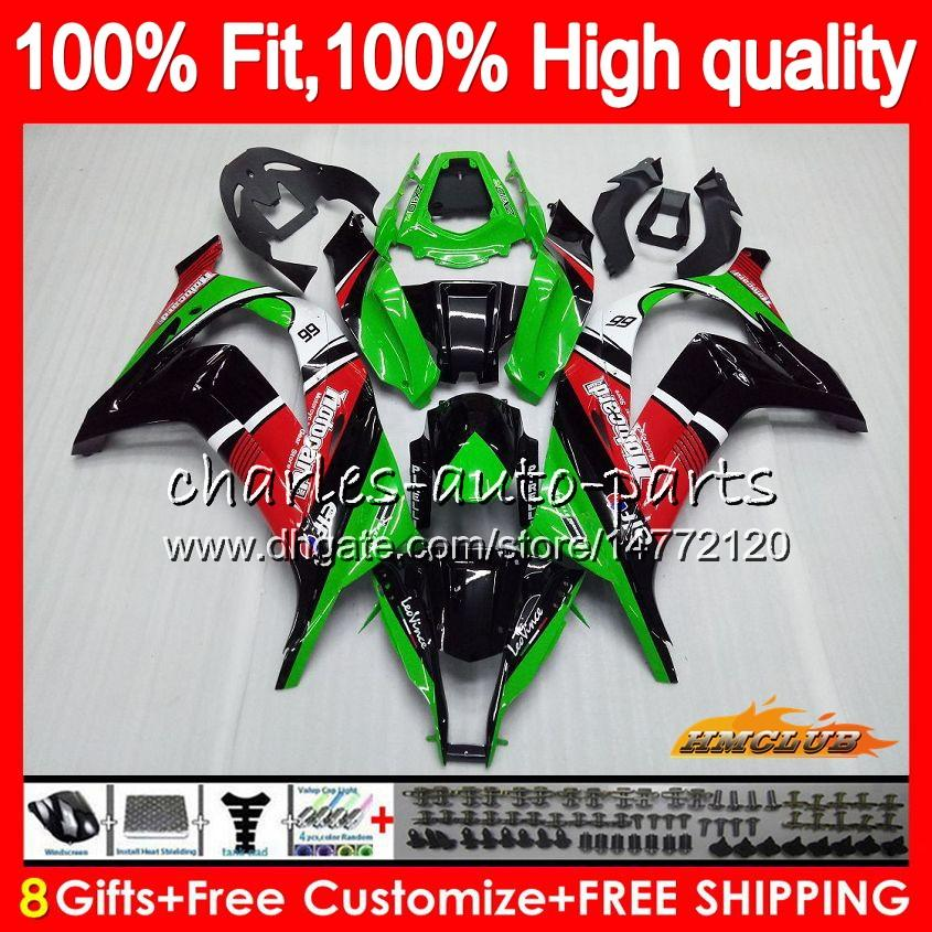 Injection For KAWASAKI ZX 10 R ZX1000 C ZX10R 11 12 13 14 15 46HC.25 ZX 10R 1000CC ZX-10R 2011 2012 2013 2014 2015 green red hot OEM Fairing