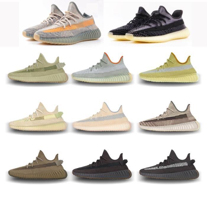 sportfansworld 2020 V2 Kanye ropa de los zapatos al oeste de azufre de cemento cola reflexivo tierra luz pantano Breds oreos beluga zapatillas deportivas zapatillas de deporte