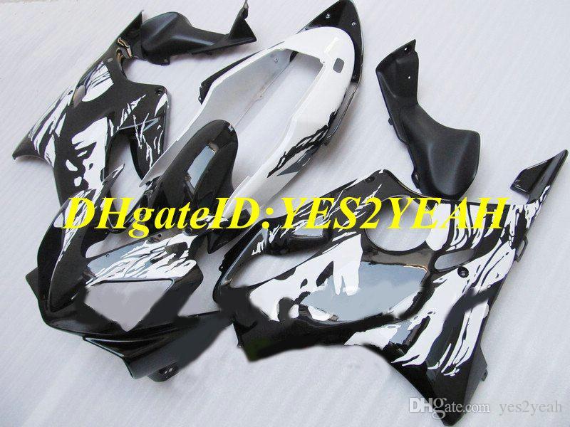 Kit carénage de moto pour Honda CBR600F4I 04 05 06 07 CBR600 F4I 2004 2007 Visage beauté Blanc noir Carénages + cadeaux HY77