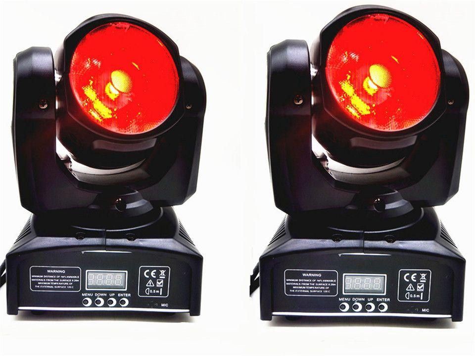 قاد 2X مصغرة رئيس الحركة 60W RGBW 4IN1 شعاع يتحرك رئيس شعاع ضوء يتحرك رئيس ضوء السوبر مشرق LED DJ الضوء تغسل تحكم DMX