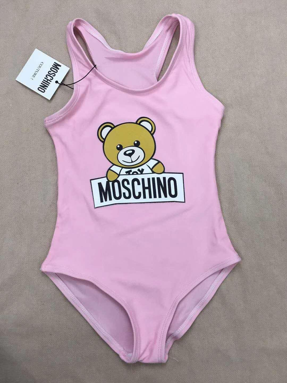 Il costume da bagno del costume da bagno della lettera di un pezzo del costume da bagno del bikini delle neonate del modello dell'orso dei bambini dell'estate calda indossa il nuoto