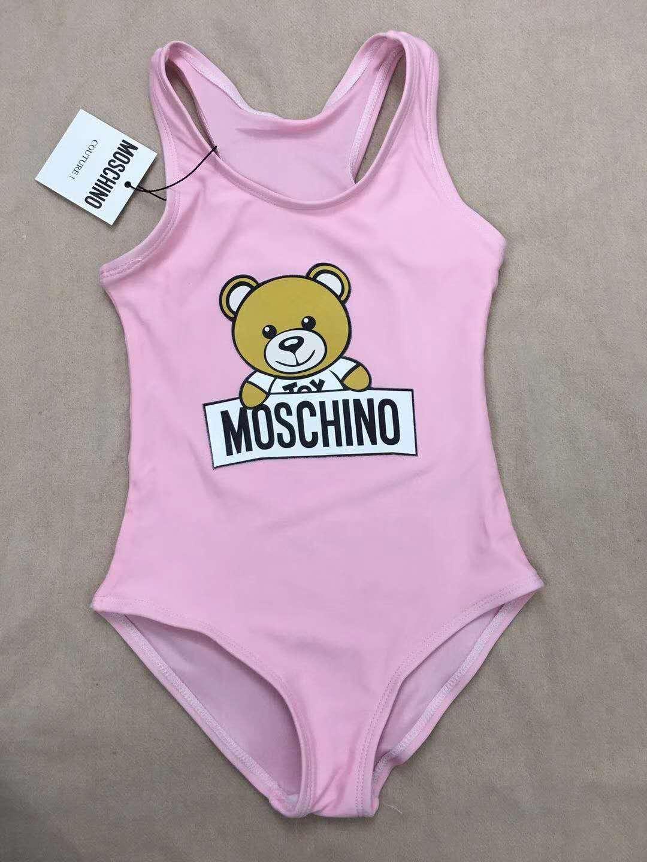 حار الصيف الاطفال الدب نمط ملابس الطفل الفتيات بيكيني ملابس السباحة قطعة واحدة إلكتروني ملابس السباحة ترتدي