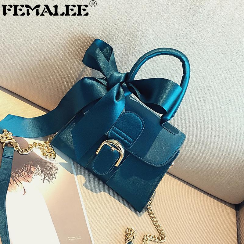 European And American Style Velour Bags Women 2019 Velvet Shoulder Messenger Bag Lady Bow Handbags Nubuck Cross Body Bag