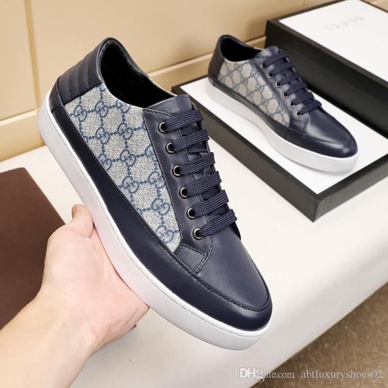 Moda Rahat Tarzı Erkekler Ayakkabı Flats Casual Sneakers Nefes Tasarım Eğlence Erkekler Ayakkabı Orijinal Kutusu ile Açık Aya ...