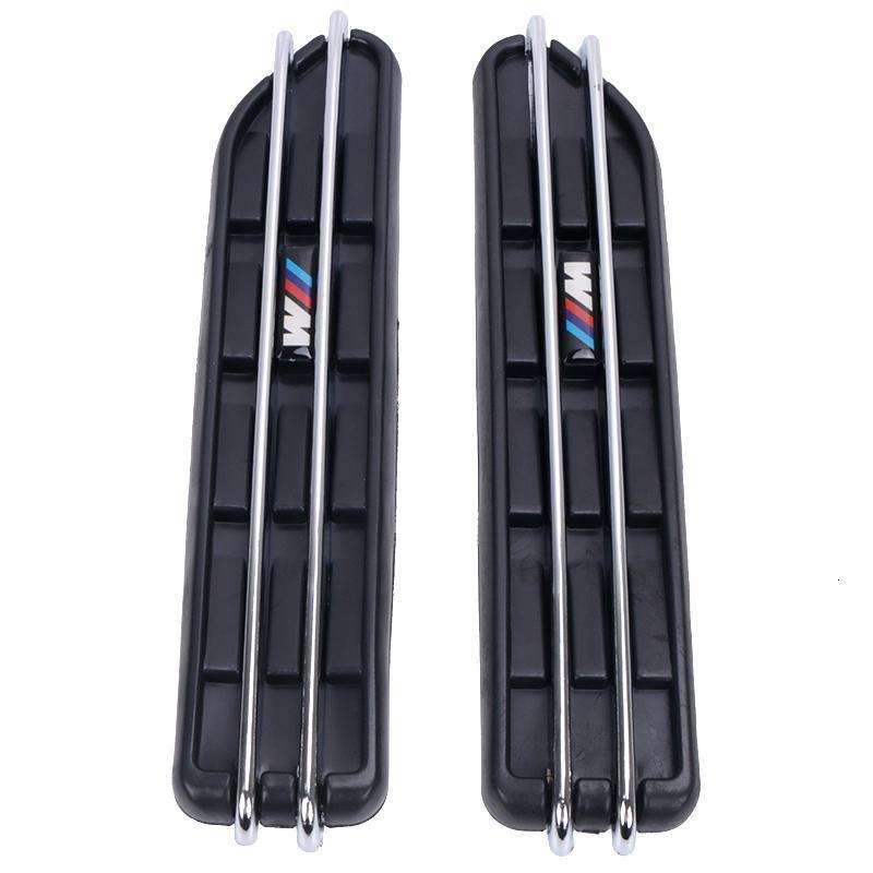 2pcs Air Flow Fender Side Vent Mesh наклейки Hole решетка для BMW E60 E61 E39 E34 M3 E46 M5 E90 C / 5