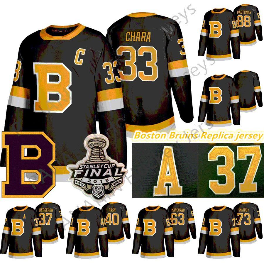 2020 Boston Bruins Hóquei 33 Zdeno Chara 8 CAM Neely 88 David Pastrnak 63 Brad Marchand Charlie McAvoy 74 Jake Debrusk Jerseys