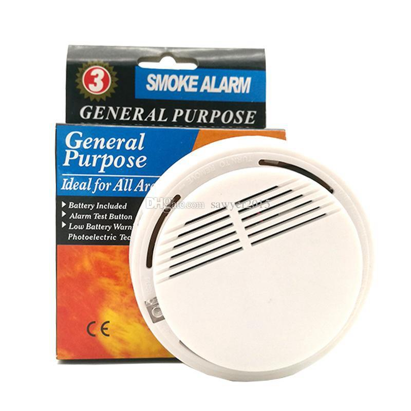 DHL free shipping Wireless Smoke Detector Safety System High Sensitivity Stable Fire Alarm Sensor Suitable for Detecting Home Security
