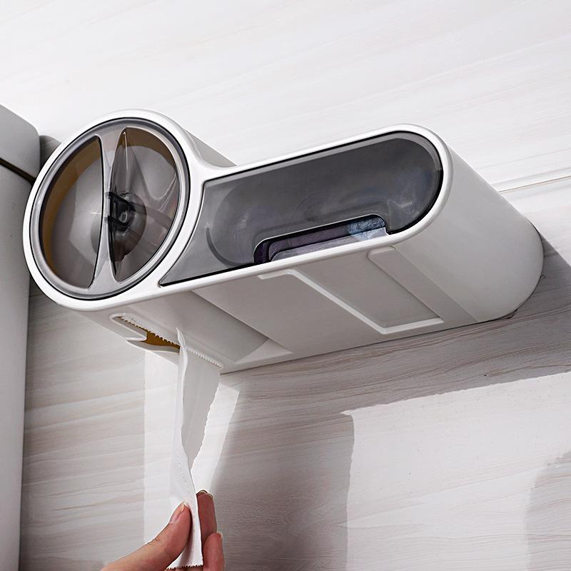 New Wall Mounted Plastic Waterproof Toilet Roll Paper Box Holder Bathroom Tool Hot Sale