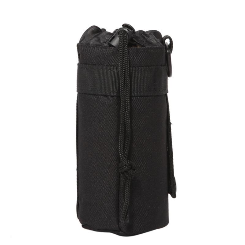 Water Bottles Pouch Bag Outdoor Sports Camouflage Drawstring Portable Water Bottle Pouch Holder Carrier With Molle System