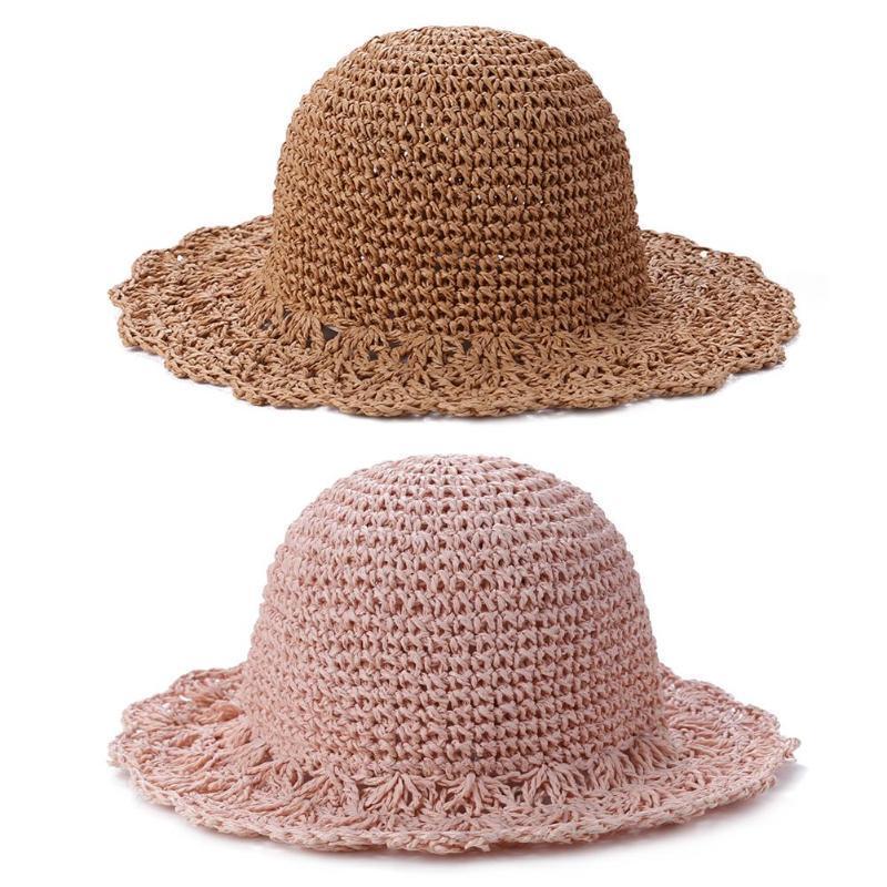 Meninas Chapéus de Verão Chapéu de Palha para meninas Panamá chapéu para Crianças Estrelas Sun tampão do bebê Chapéus Caps grátis New 2020 de alta qualidade por atacado quente