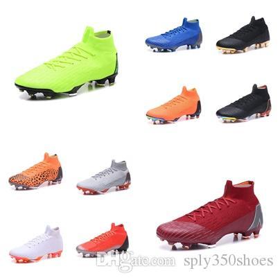 2020 sapatos Mercurial Superfly 12 Elite FG chuteiras azul Mercurial Superfly 360 FG Elite Laranja Cunho CR7 de futebol de futebol de dimensões DF preto 40-45