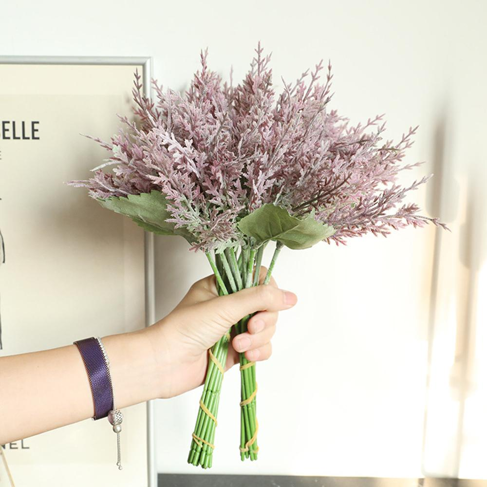 인공 소나무 싸이프레스 잎 무리 인공 명예 꽃을 위해 DIY 크리스마스 트리 홈 테이블 장식
