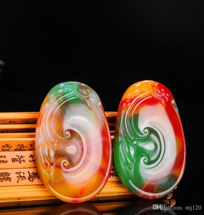 Nello Xinjiang e Tian Yu Ruyi Ciondolo di uomini e donne di seta D'oro di Giada Ruyi Ciondolo Collana di Giada Maglione Catena