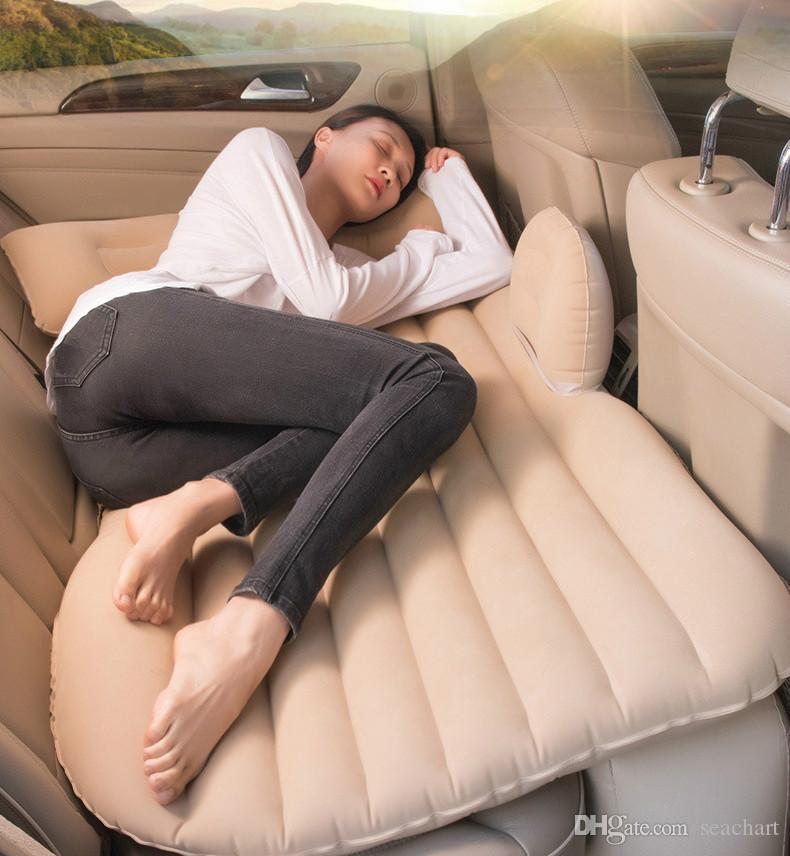 Car Air Inflatable Travel Mattress Bed Universal for Back Seat Multi functional Sofa Pillow Outdoor Camping Mat Cushion NY110