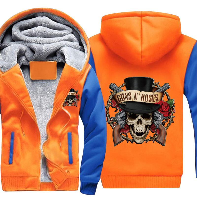 entrega gratuita Sudaderas con capucha Guns N 'Roses Sudaderas con capucha nuevas y nuevas de tatuajes para hombre en cinco dimensiones TAMAÑO: S-5XL