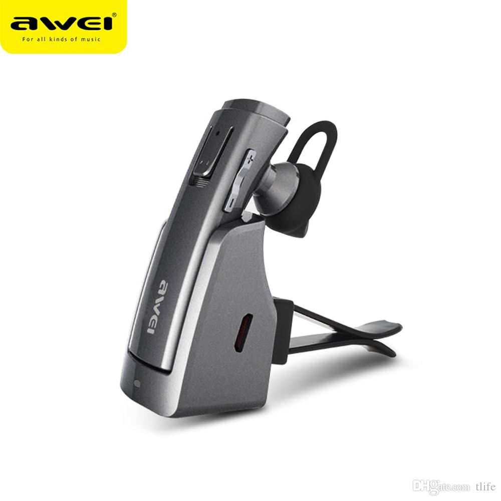 AWEI Bluetooth 이어폰 V4.1 무선 스테레오 헤드폰 헤드셋 이어 버드 핸즈프리 Fone de ouvido Auriculares Ecouteur Cuffie A833BL BA