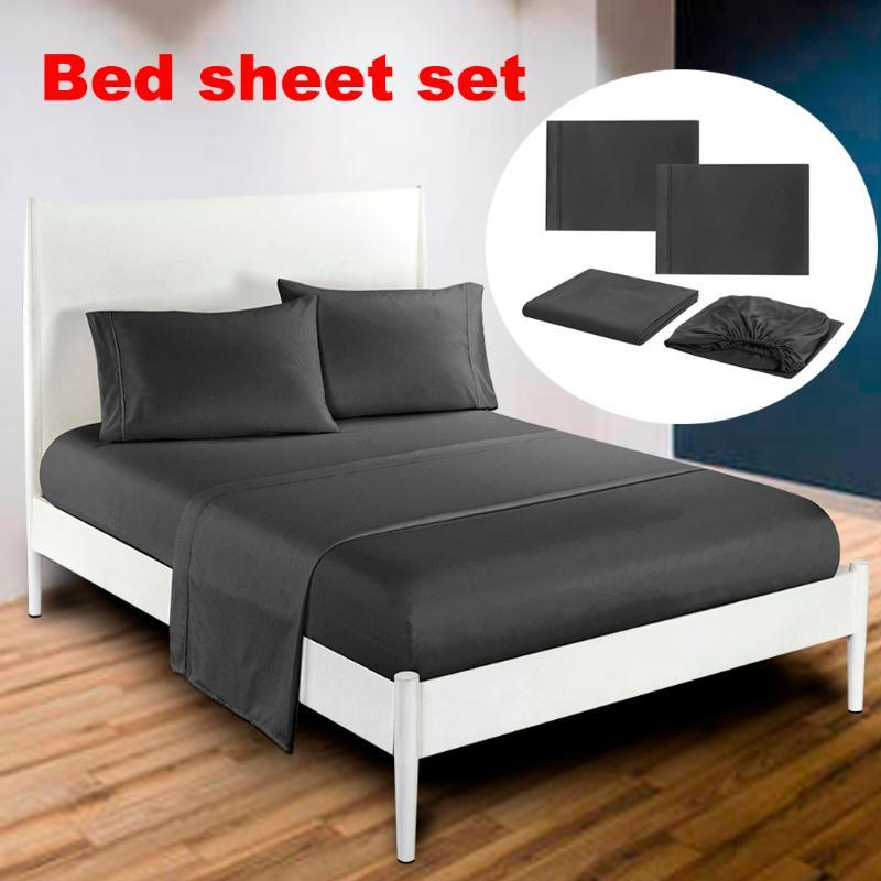 Classic Bedding set Bed Solid Color Simple Series Bedding Sheets Bed Pillowcase Four Sets NEW Pattern bedspread cover
