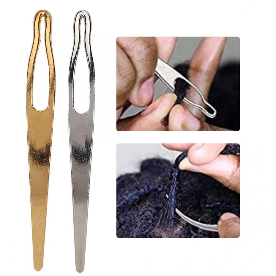 воздуха Extensions парики 2pcs / Set Dreadlocks Запуск иглы ткачество Hook изготовления инструментов Иглы Парик для Dreadlock Блокировки Иглы для макияжа ...
