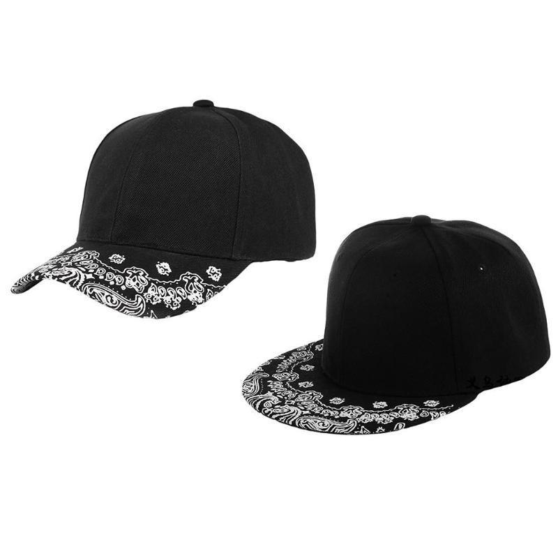 Унисекс хип-хоп Пейсли печати плоские изогнутые поля регулируемая бейсболка Snapback шляпа УФ-защита chapeau femme 2020