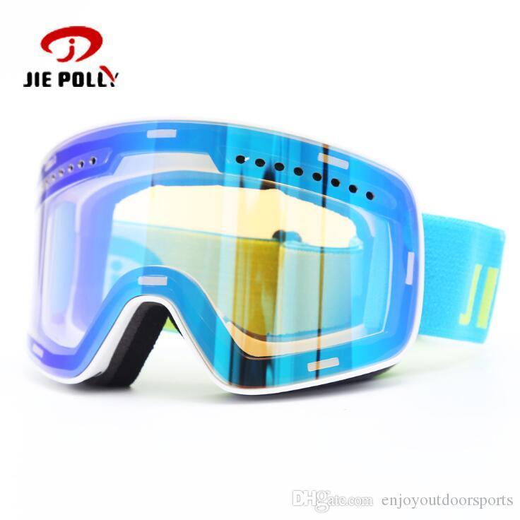 الطبقات تزلج نظارات مزدوجة عدسة الثلوج في فصل الشتاء الرياضة واقية على الجليد نظارات المضادة للضباب فوق البنفسجية الكبار التزلج قناع مغناطيس نظارات نظارات نظارات